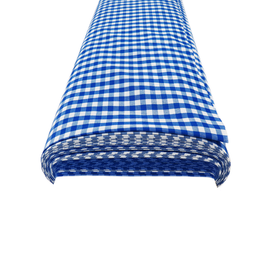 Royal Blue, 100% Polyester Gingham Check 1/4- 58
