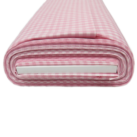 Light Pink, 100%  Polyester Gingham Check 1/4- 58