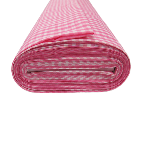 "Pink Gingham Check 1/4- 60"" wide; 1 yard"