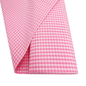 Pink, 100% Polyester Gingham Check 1/4- 58