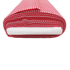Red, 100% Polyester Gingham Check 1/8- 58