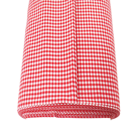 "Red Gingham Check 1/8- 60"" wide; 1 yard"