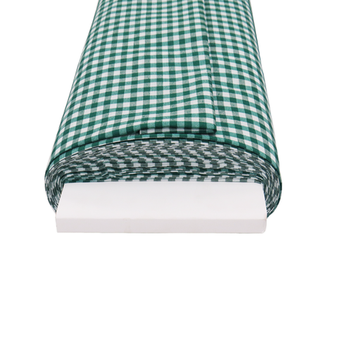 "Green Gingham Check 1/4- 60"" wide; 1 yard"