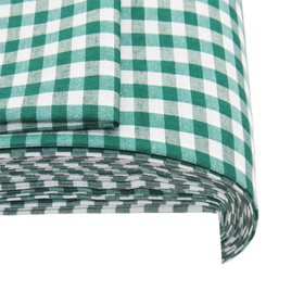 Green, 100% Polyester Gingham Check 1/4- 58