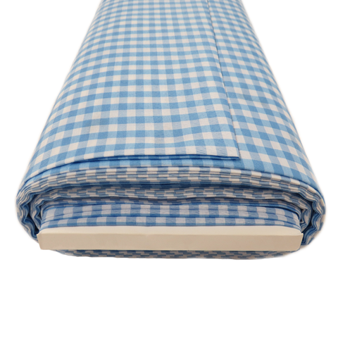 "Light Blue Gingham Check 1/4- 60"" wide; 1 yard"