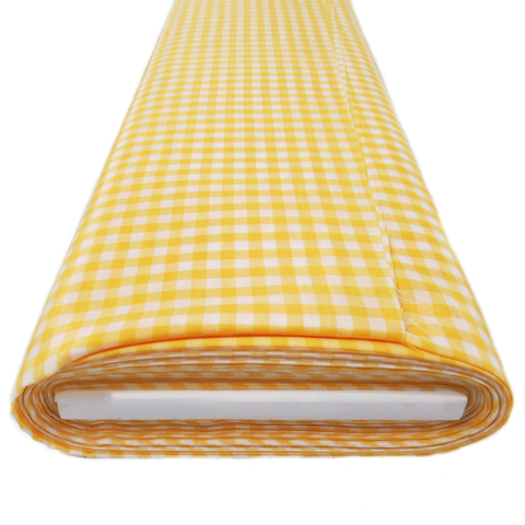 "Mustard Gingham Check 1/4- 60"" wide; 1 yard"
