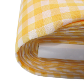 Mustard, 100% Polyester Gingham Check 1/4- 58