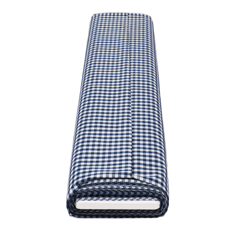 "Navy Gingham Check 1/4- 60"" wide; 1 yard"
