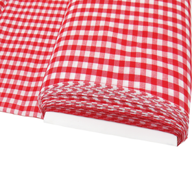 Red, 100% Polyester Gingham Check 1/4- 58