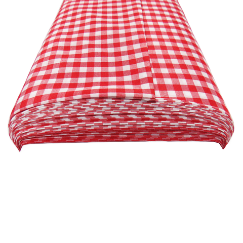 "Red Gingham Check 1/4- 60"" wide; 1 yard"