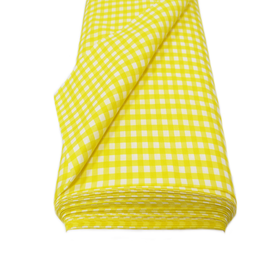 Yellow, 100% Polyester Gingham Check 1/4- 58