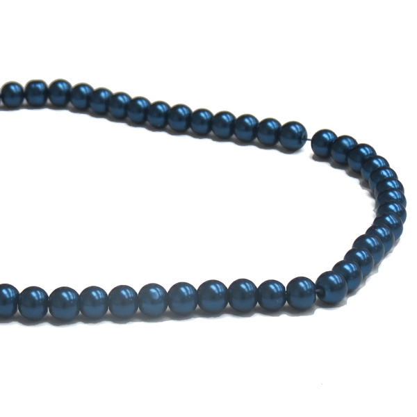 Glass Pearl- Navy Blue