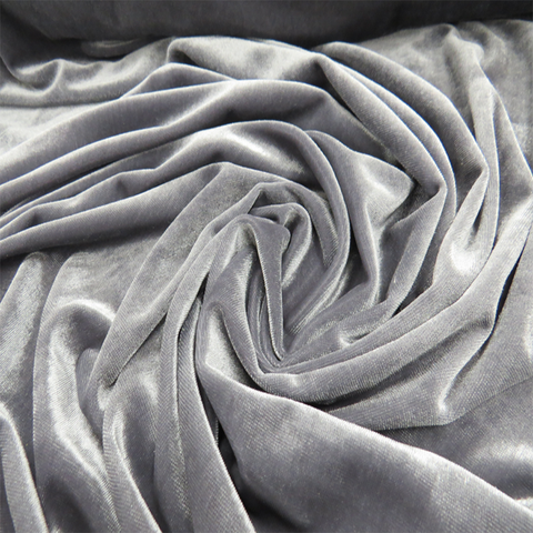"Gray, Velvet Teen Rayon Stretch - 60"" wide; 1 Yard"