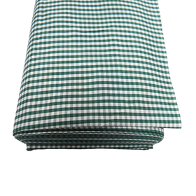 Green, 100% Polyester Gingham Check 1/8- 58