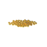 Heishe Spacer Bead, Gold Plated Brass, 4x4mm; 50 pieces