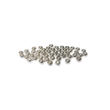 Heishe Spacer Bead, Silver Plated Brass, 4x4mm; 50 pieces