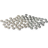 Heishe Spacer Bead, Silver Plated Brass, 6x6mm; 50 pieces