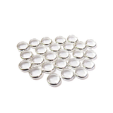 Spacer Round,Silver, 8mm; 25 pcs