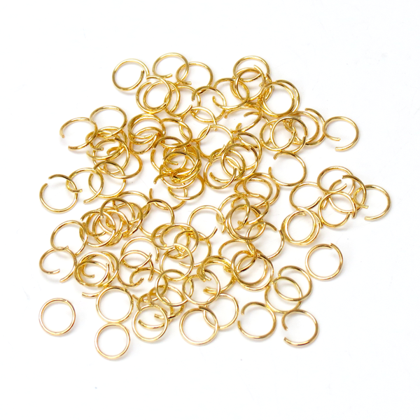 Jump Ring, Gold Plated Brass-8mm; 100pcs
