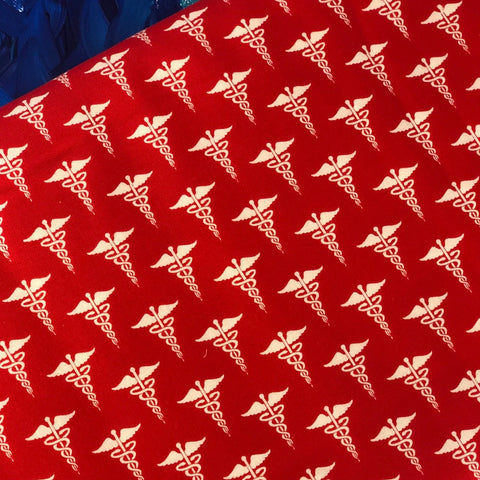 "Medicine Sign Fabric- 100% Cotton Print Fabric, 45"" Wide"