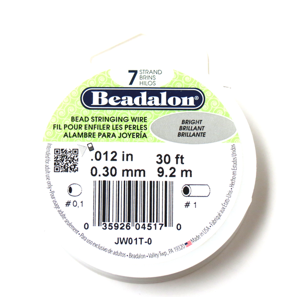 Beadalon, Bead Stringing Wire, 12/30ft