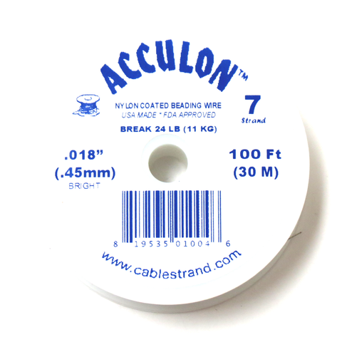 Acculon, Nylon Coated Beading Wire, .018/100ft