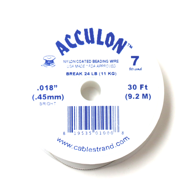 Acculon, Nylon Coated Beading Wire, 18/30ft