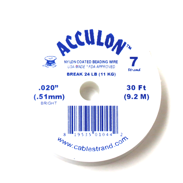 Acculon, Nylon Coated Beading Wire, .020/30ft