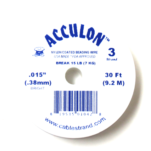 Acculon, Nylon Coated Beading Wire, .015/30ft