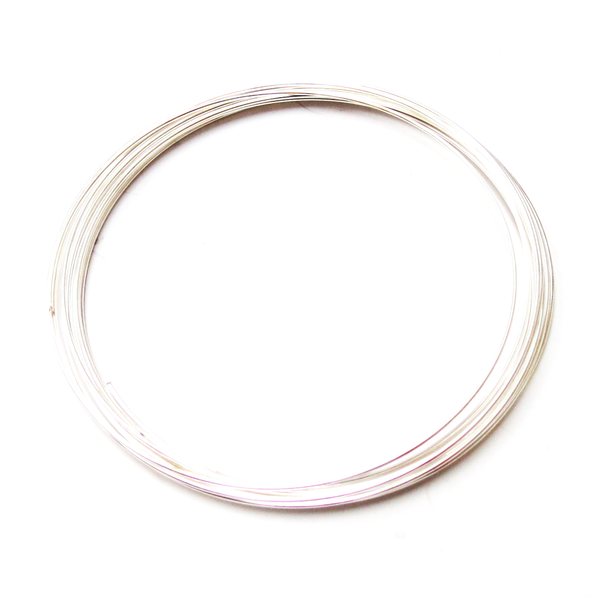Memory Wire, Silver Plated; 2-1/4 diameter-12loops