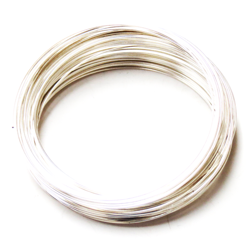 Memory Wire, Silver Plated; 2-1/4 diameter-70loops