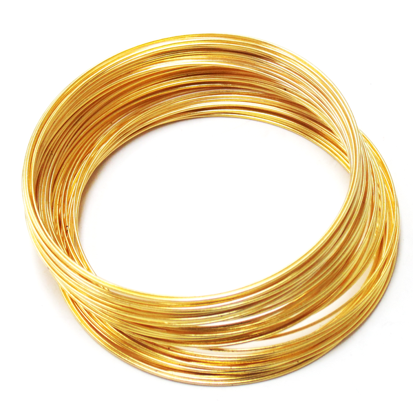 Memory Wire, Gold Plated; 2-1/4 diameter-70loops