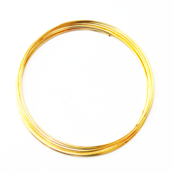 Memory Wire, Gold Plated; 2-1/4 diameter-12loops