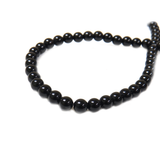 Black Agate, 6mm - 1 strand
