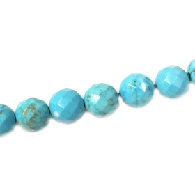 Turquoise Round Faceted, 10mm - 1 strand