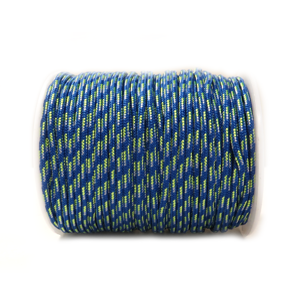 Blue Mix Parachute Cord- 2.5mm; per yard
