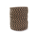 Brown & Black Parachute Cord- 2.5mm; per yard