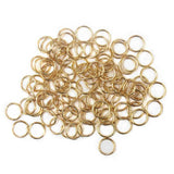 Jump Ring, Gold Plated Brass-7mm; 100pcs