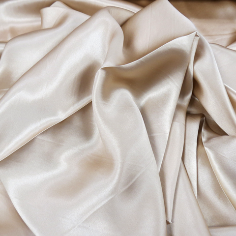 "Silk Charmeusse, Light Tan, 54"" Wide- 1 Yard"