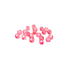 Light Pink, Round Faceted Fire Polished; 6mm - 20 pcs