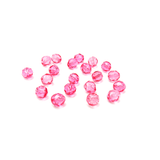 Light Pink, Round Faceted Fire Polished; 8mm - 20 pcs