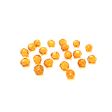 Light Topaz, Round Faceted Fire Polished; 8mm - 20 pcs