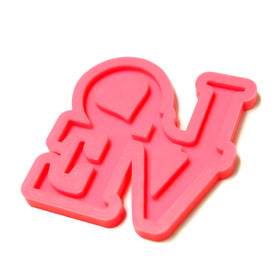 LOVE Silicone Mold for Resin Pendant - Approx. 2.75