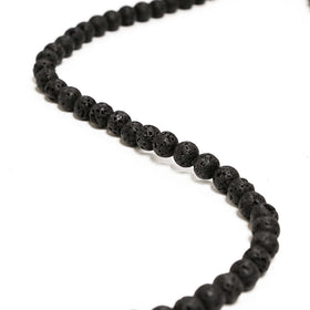 Black Lava Gemstone, 8mm