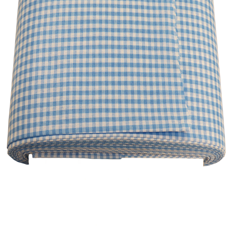 "Light Blue Gingham Check 1/8- 60"" wide; 1 yard"