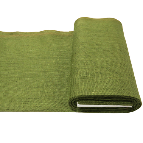 "Olive Green Burlap, 38"" - 40"" Wide; 1 Yard"
