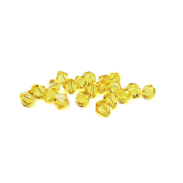 Swarovski Crystal, Bicone, Light Topaz, 6mm;20pcs