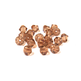 Swarovski Crystal, Bicone, 6mm - Light Smoked Topaz; 20 pcs