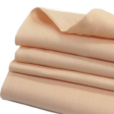 "Light Peach, Natural Ramie - 54"" wide; 1 Yard"