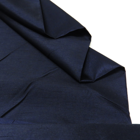 Navy, 100% Textured Shantung - 118